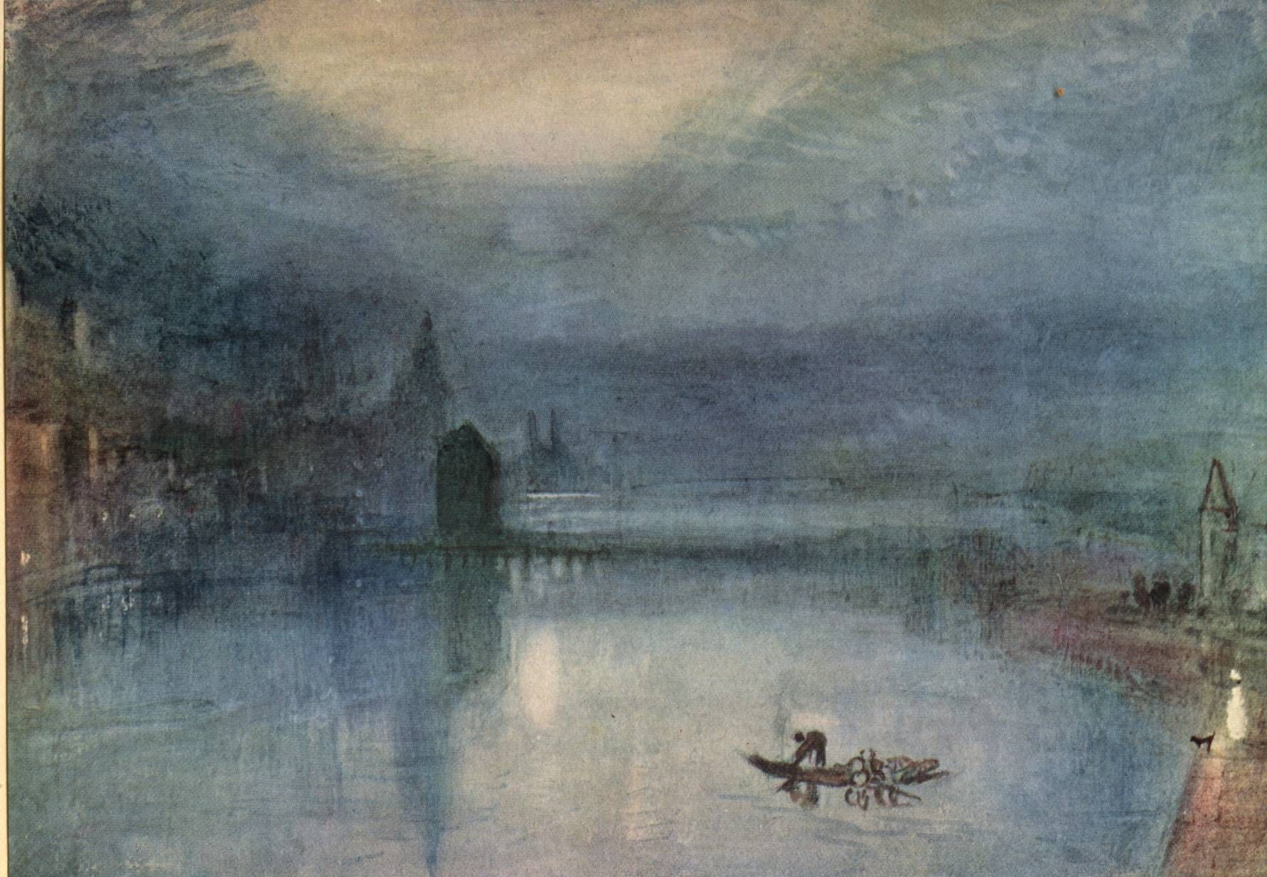 Turner Watercolors Evening By Joseph Mallord William Turner