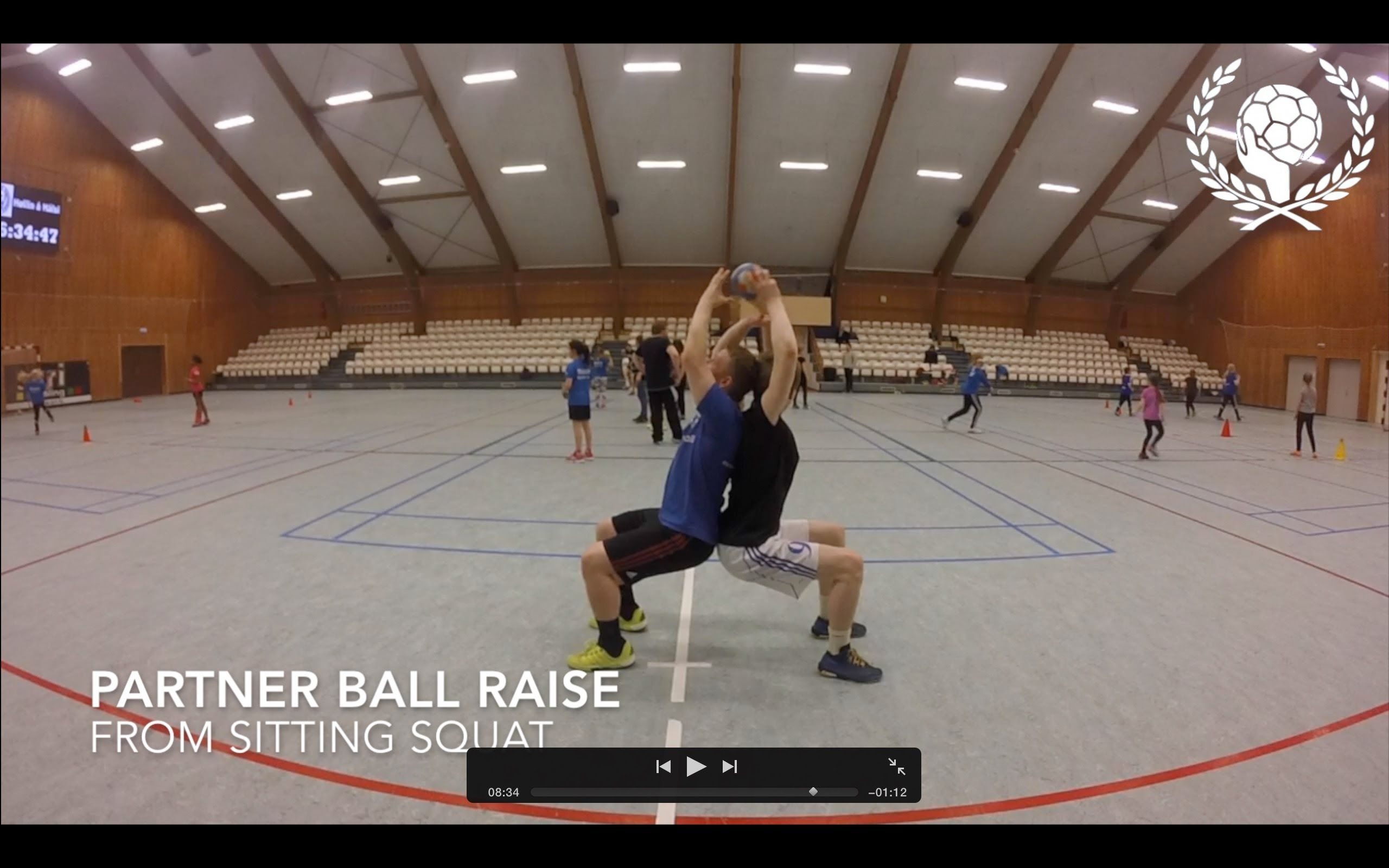 Handball Warmup Partner Physical Exercises Without Ball Volleyball Training Warmup Partner Workout