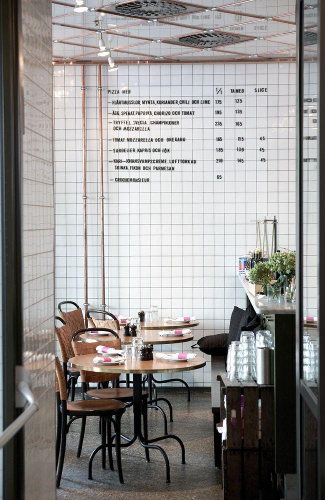 white tiles wall restaurante - Pesquisa Google | Coffee ...