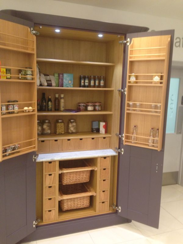 Larder unit from austin paint to order kitchen range for Oak kitchen larder units