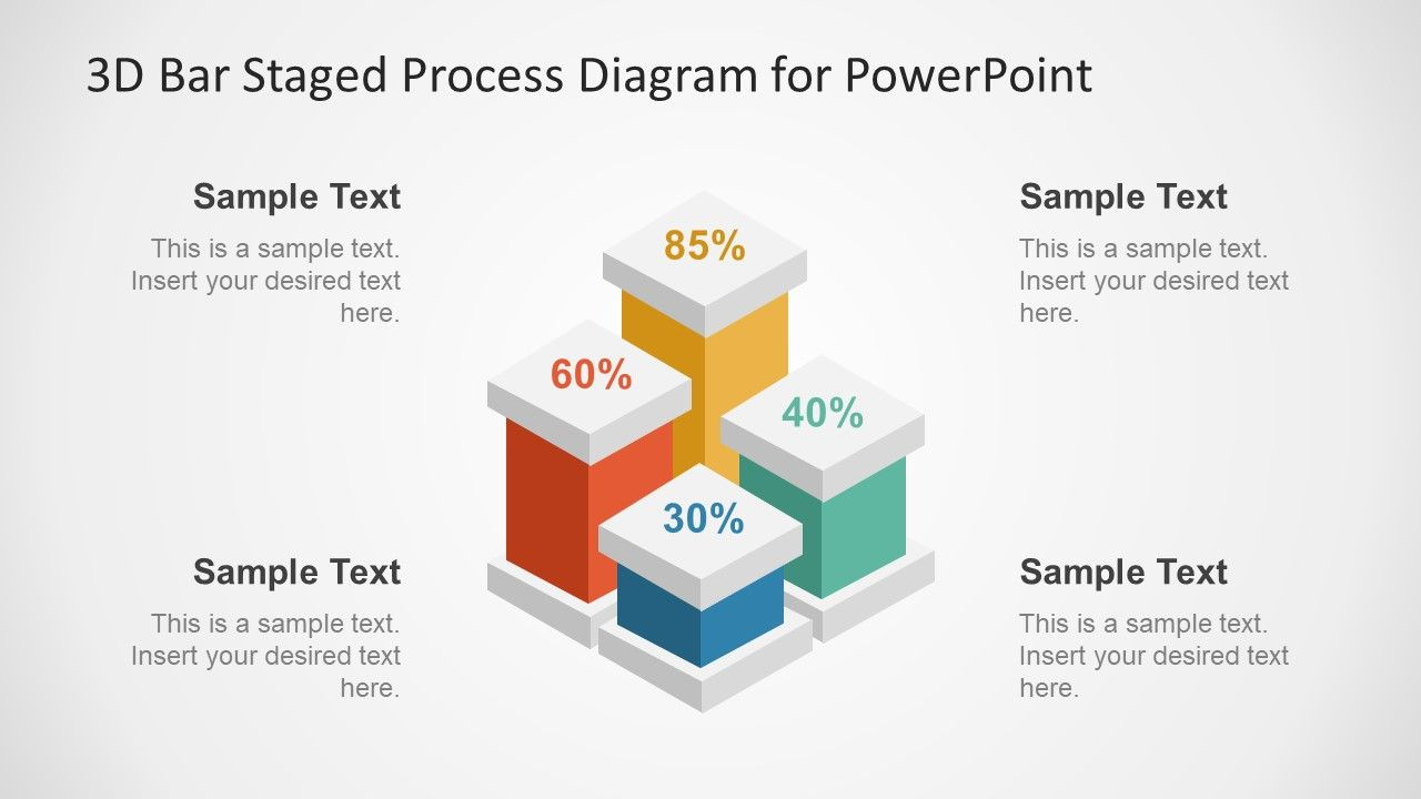 3d Bar Staged Process Diagram For Powerpoint Stages Star Templates Ppt Backgrounds Slides Four Template In Chart Flow Presentation