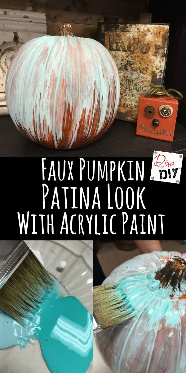 How to Create an Oxidized Patina Pumpkin Pennies, Acrylics and - decorations to make for halloween