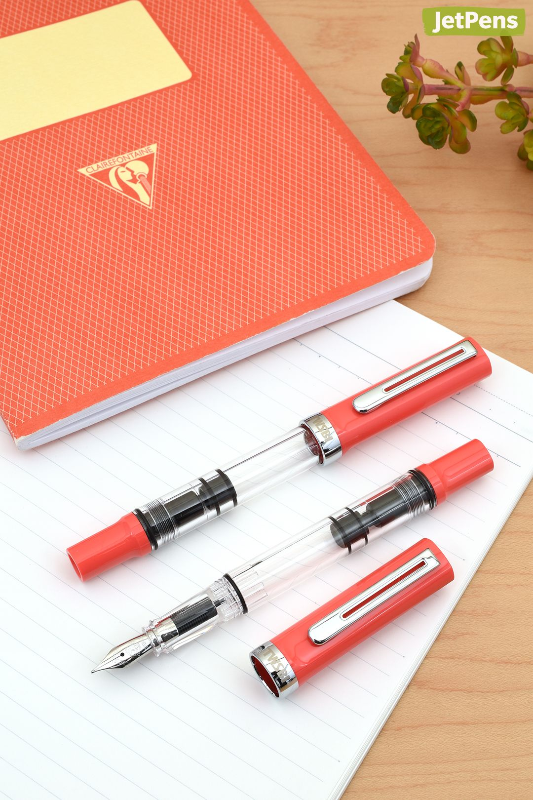 Perfect For Summer The New Twsbi Eco T Coral Limited Edition Fountain Pen Comes In A Bright Tropical Color That Would Pair Well With A C Jet Pens New Pen Pen