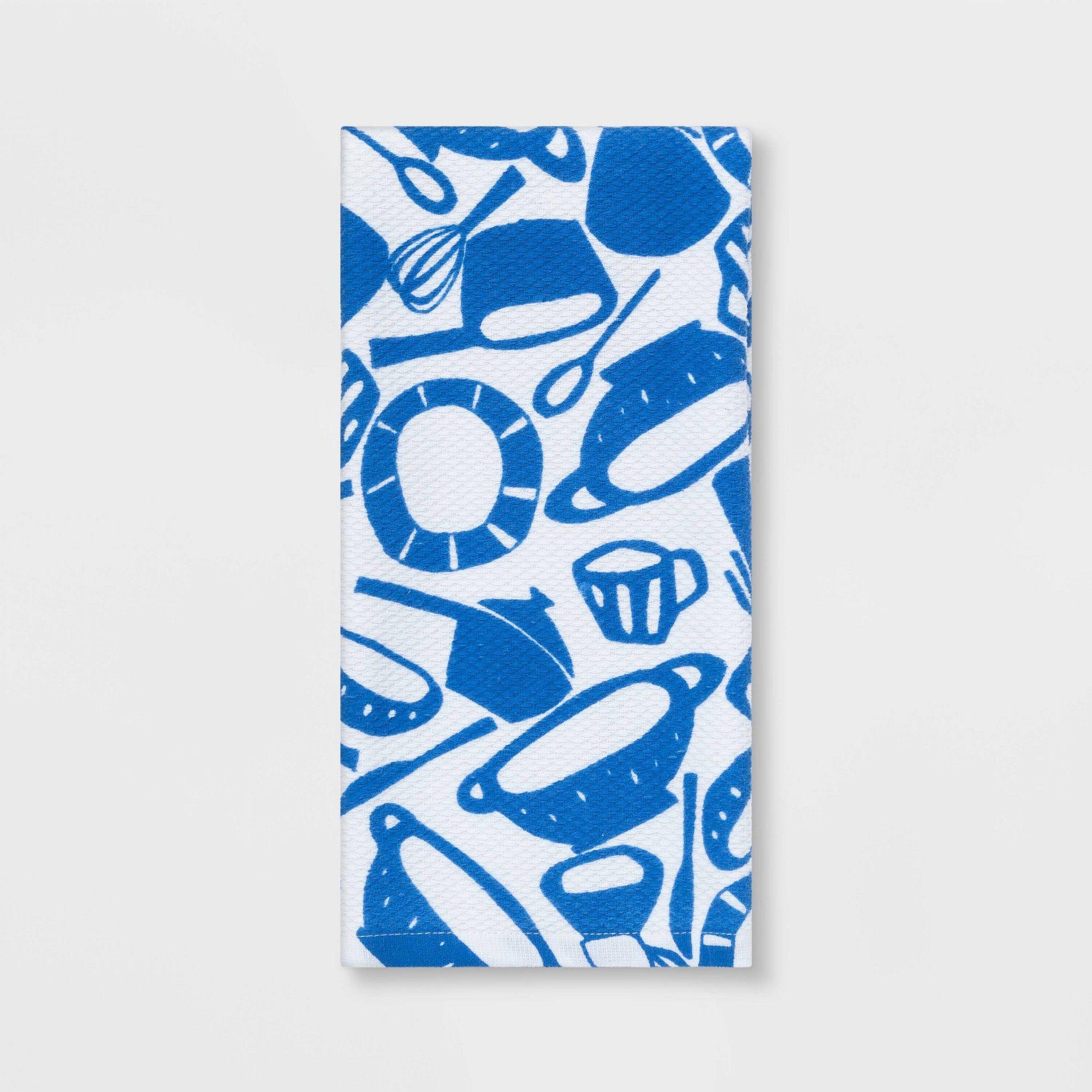 Kitchen Towel Blue White Room Essentials Blue Towels Black