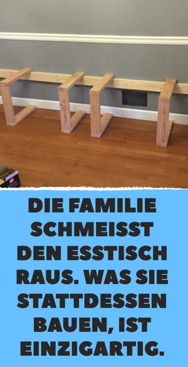 Statt normaler Esstischgarnitur baut diese Familie individuelle Essecke.