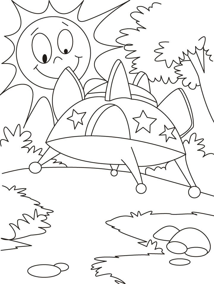 An advanced vehicle ufo coloring pages