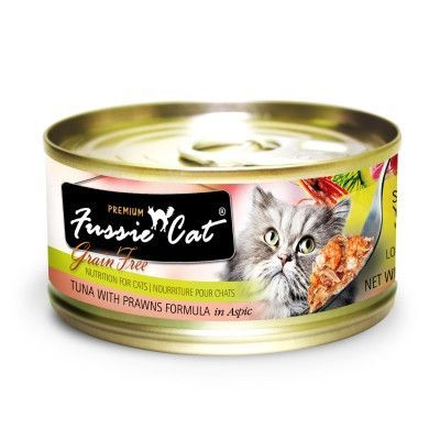 Fussie Cat Canned Food Fussiecat Tuna Prawn 24 2 82oz Pets Global Fussie Cat Upc 888641130665 Dept Other P Canned Cat Food Canned Food Food Animals