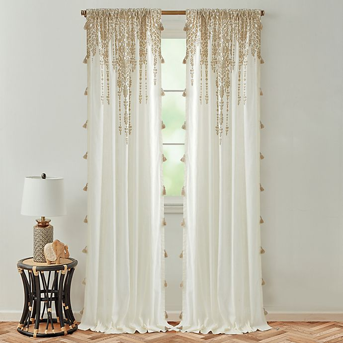 Global Caravan Marrakech Rod Pocket Light Filtering Window Curtain Panel In 2020 Panel Curtains Sheers Curtains Living Room Boho Kitchen Curtains