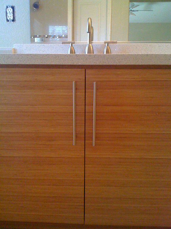 Bamboo Bathroom Cabinets White Wolf Design Remodel Listed In - Bathroom remodel roseville