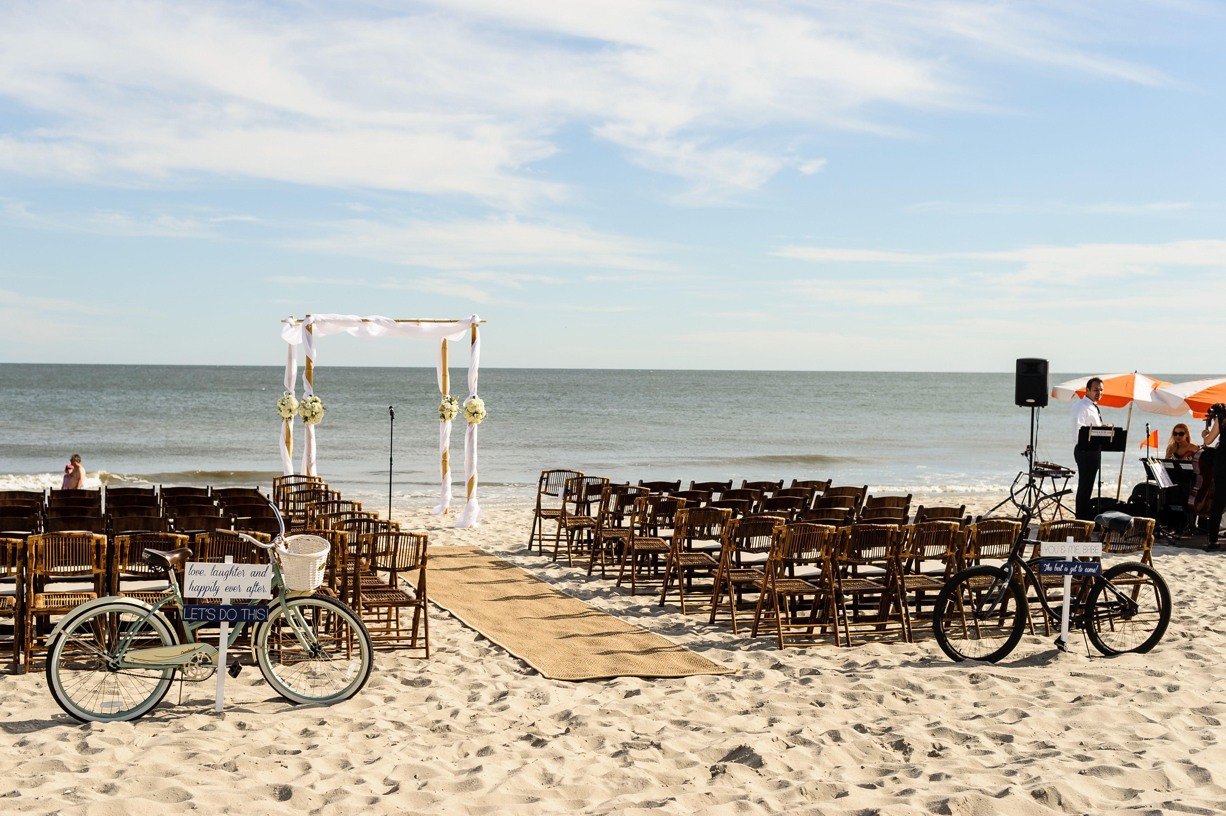 Beach Wedding At The Ocean Club Hotel In Cape May Nj 609 884 7000