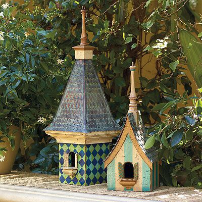 Blue Lagoon Birdhouse By Frontgate Home Reno Fairy