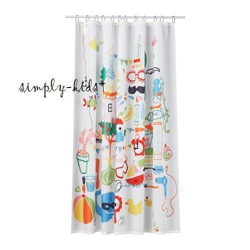 Ikea Children Shower Curtain Badback Multicolor Perfect Kids
