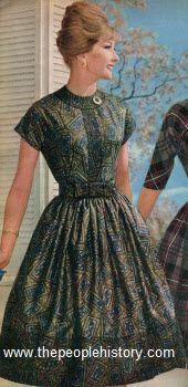 1960 Medieval Print Dress