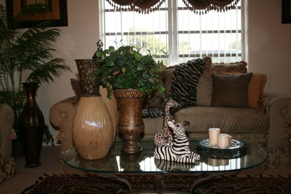 Safari Living Room | African Safari   Living Room Designs   Decorating Ideas    HGTV Rate My .