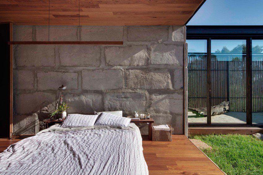 Esta casa fue construida con bloques de hormigón