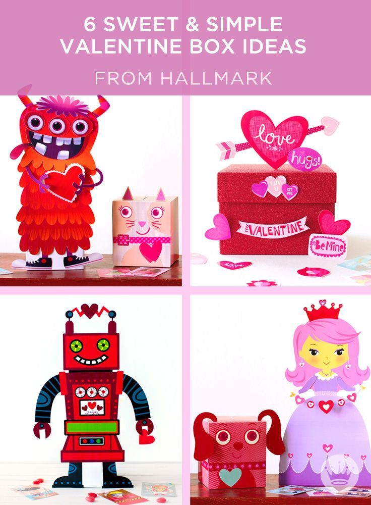 Use our free printables to craft a DIY valentine box for school ...