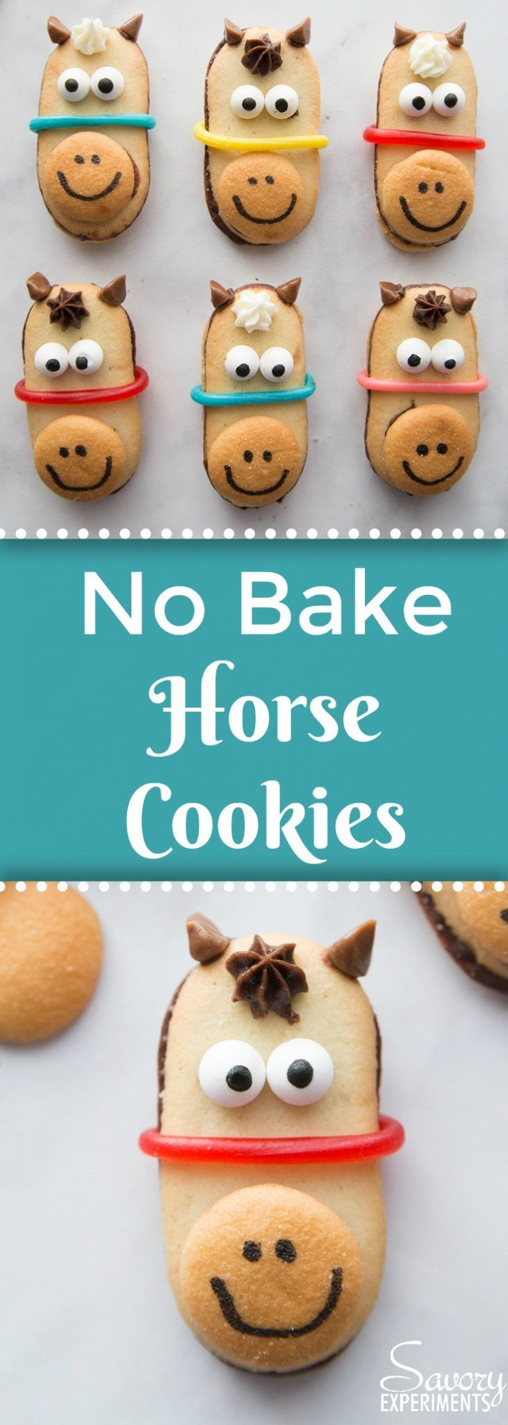 No Bake Horse Cookies