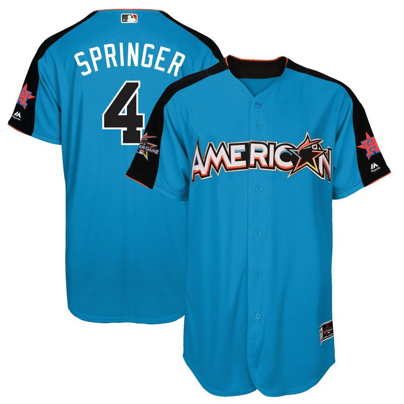 George Springer American League Majestic 2017 MLB All-Star Game Home Run Derby Player Jersey - Blue