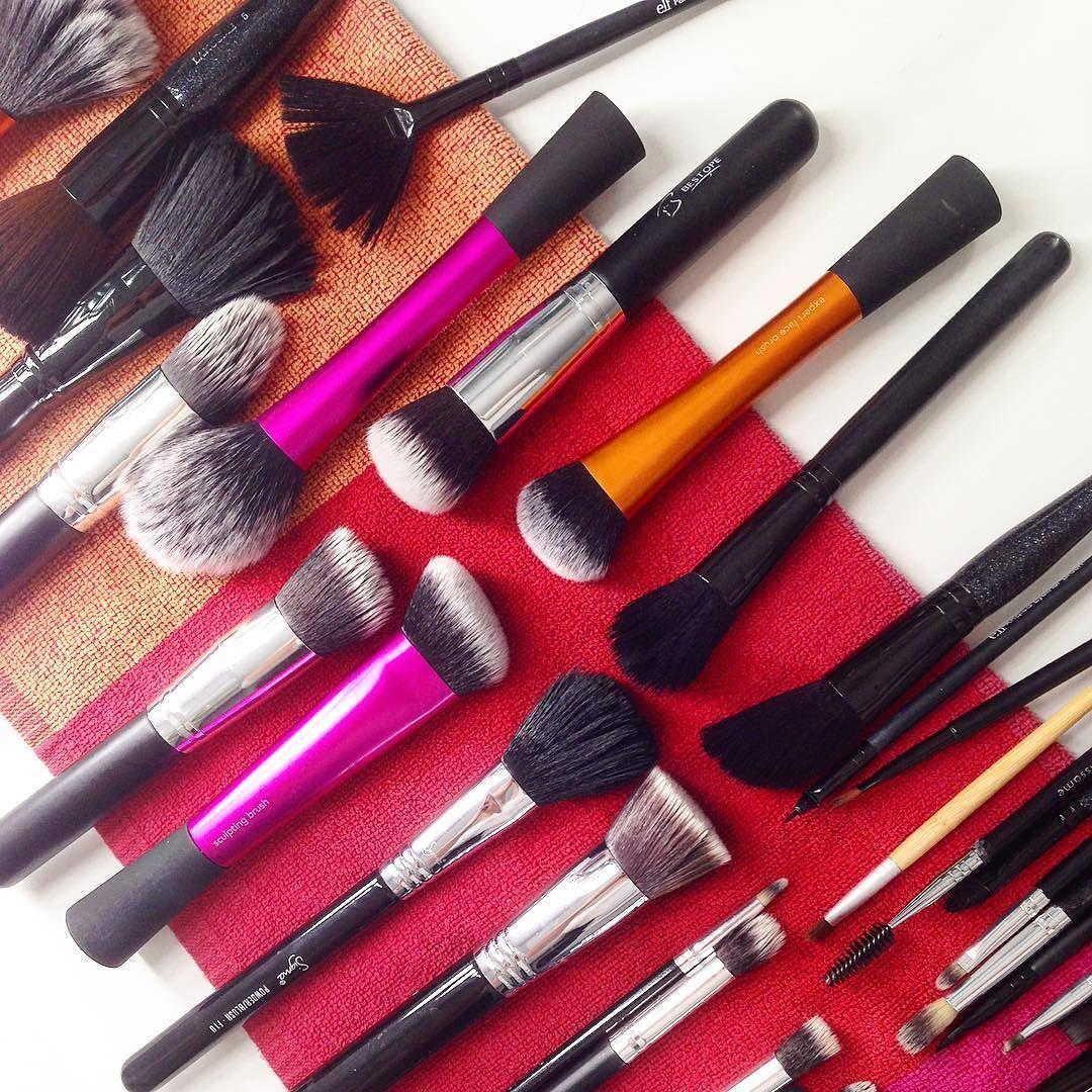 Clean makeup brushes makeup makeupbrushes