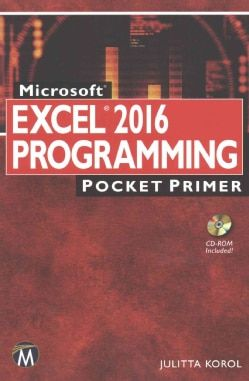 Microsoft Excel Programming 2016 Pocket Primer Free Shipping On Orders Over 45 Overstock Com 17695085 Mobile Microsoft Excel Excel Excel Shortcuts