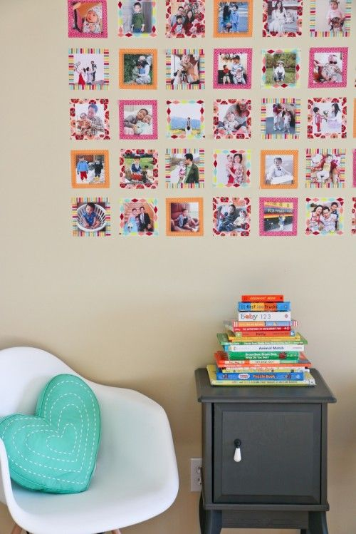 DIY Instagram Wall With Colorful Washi Tape...