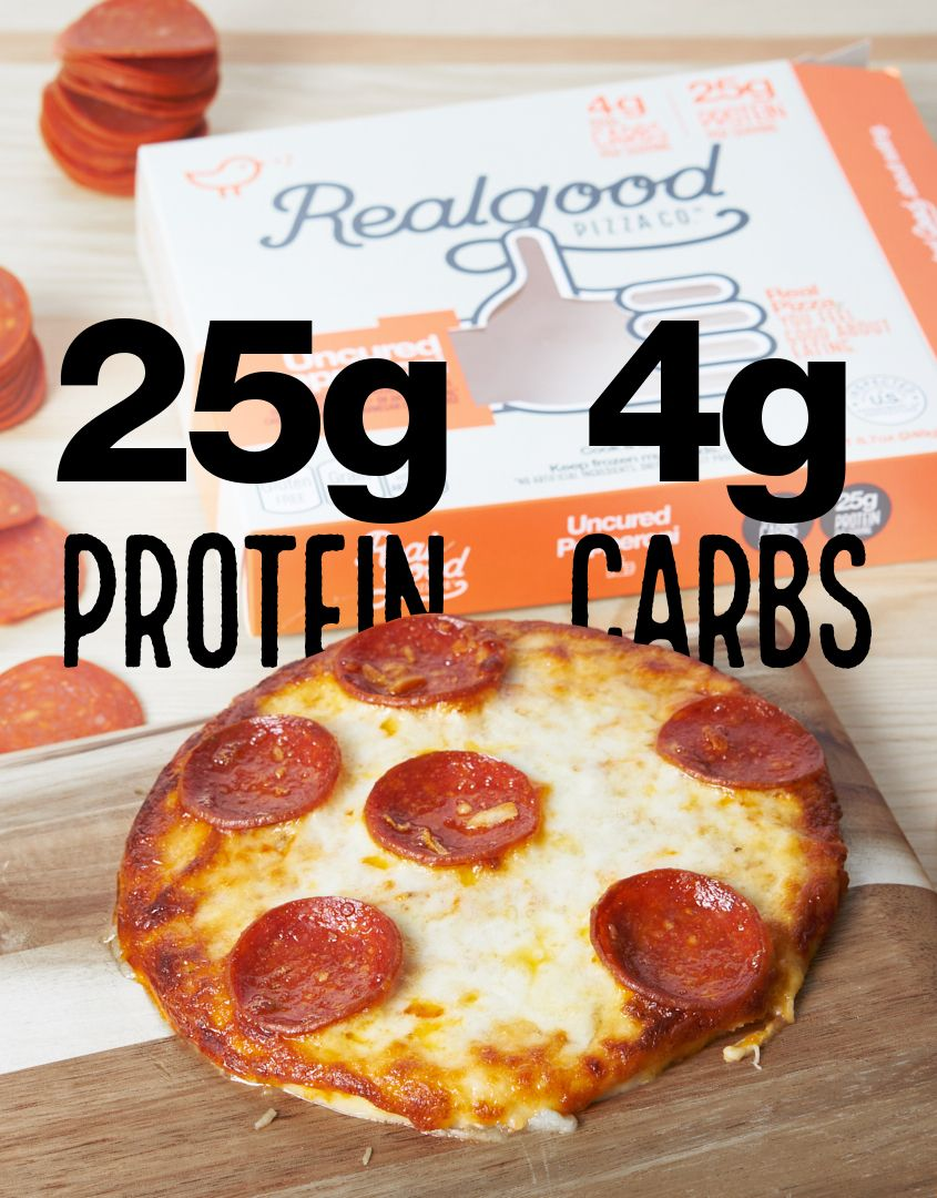 Pizza with only 4g carbs 25g protein available at