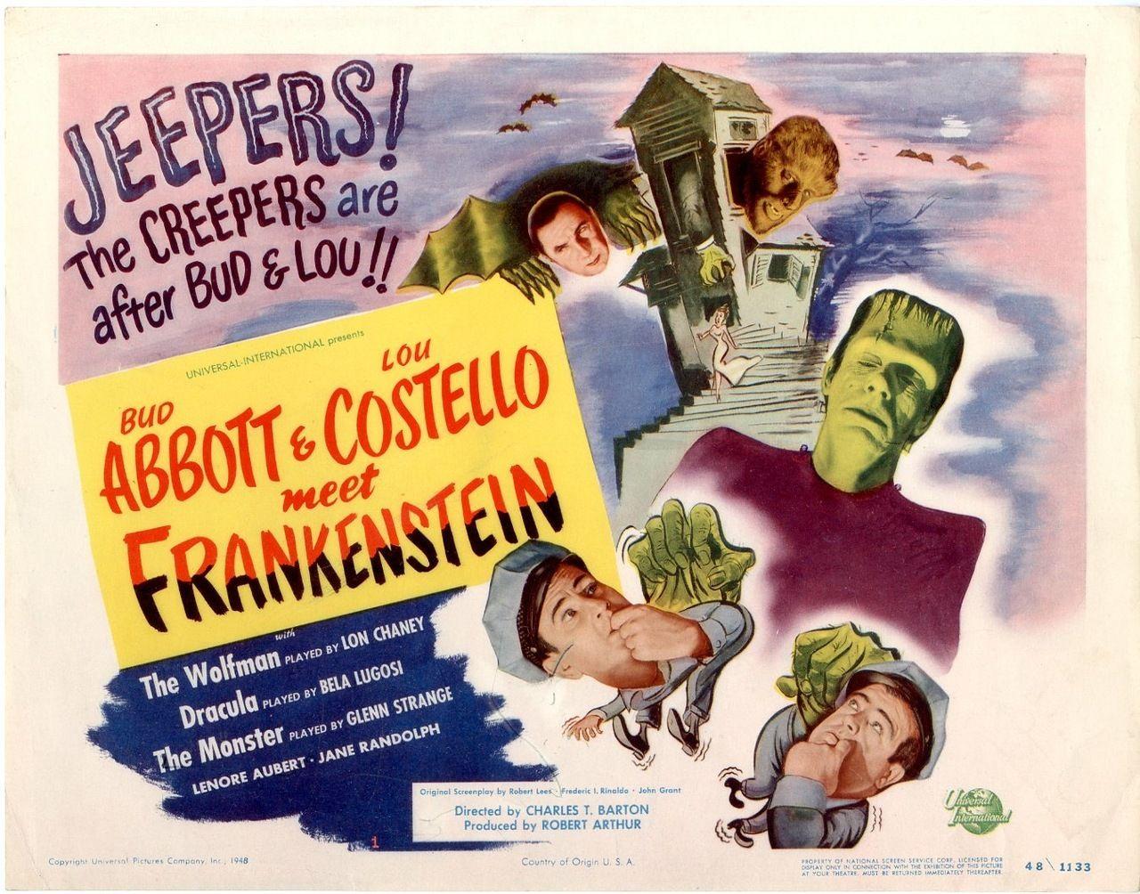 Bud Abbott & Lou Costello Meet Frankenstein, US title card. 1948