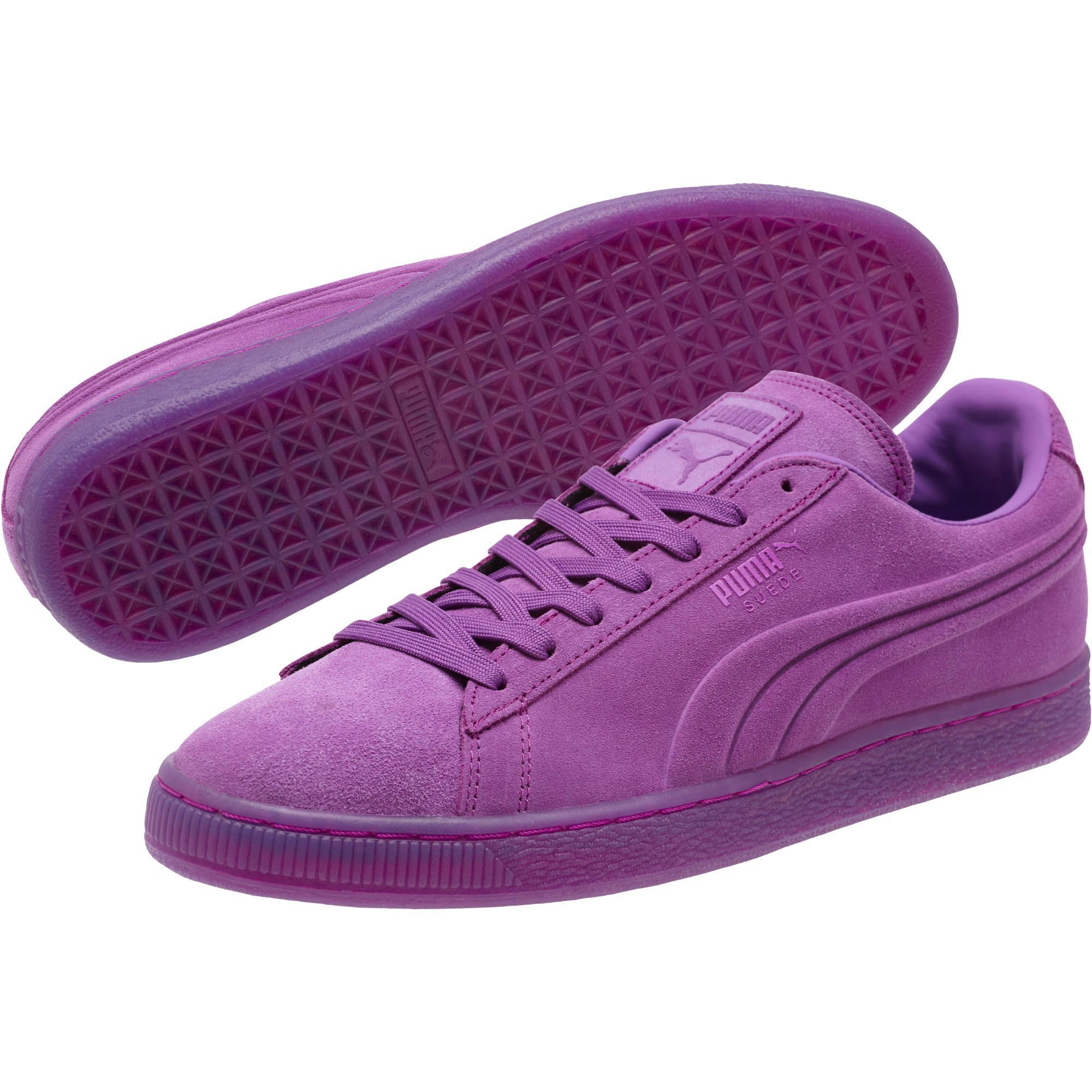 la meilleure attitude d78c0 43876 Purple Suede Embossed Iced Fluo Men's Sneakers | school ...