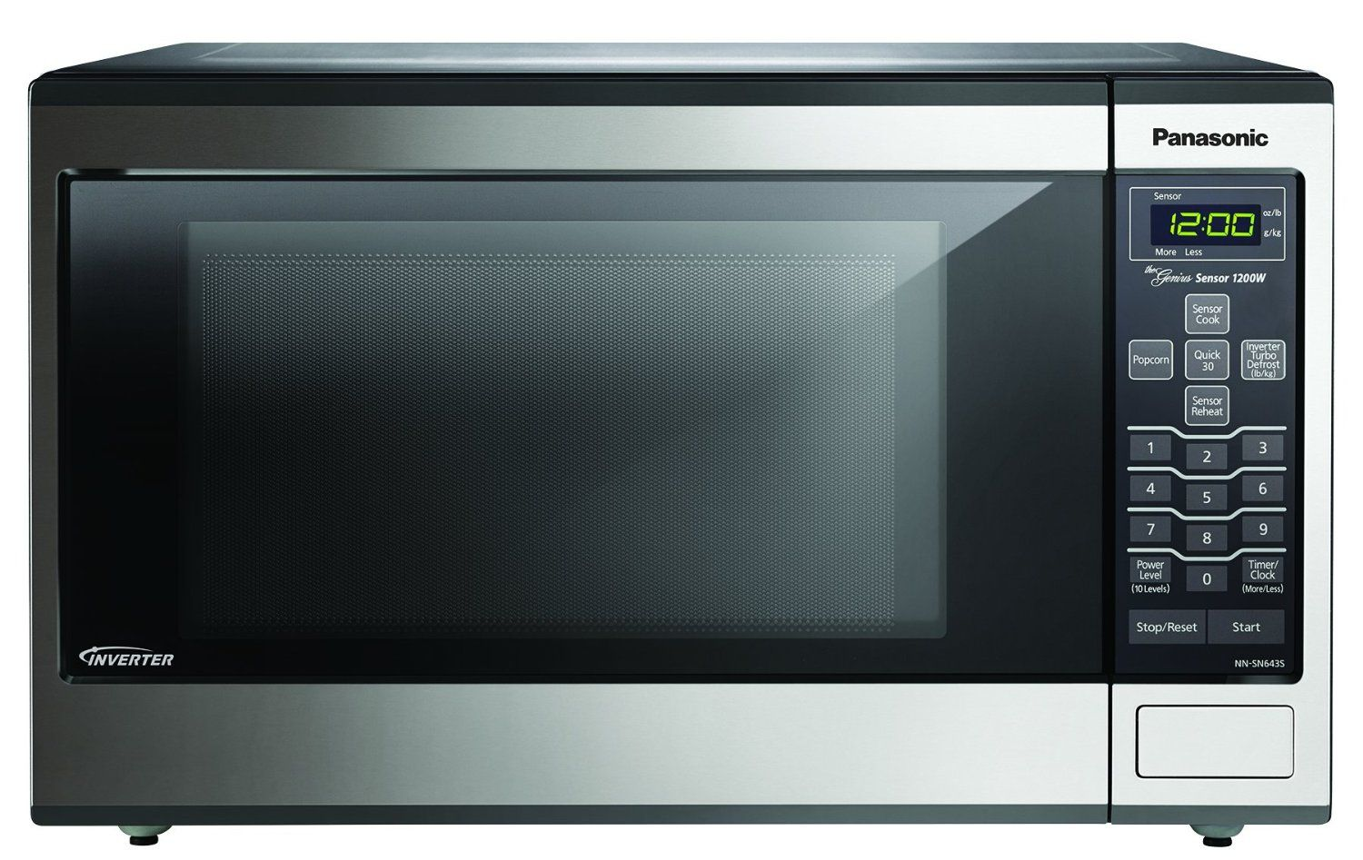 Panasonic Nn Sn643s Stainless 1200w 1 2 Cu Ft Countertop Microwave Oven With Inverter Technology Countertop Microwave Oven Countertop Microwave Built In Microwave Oven