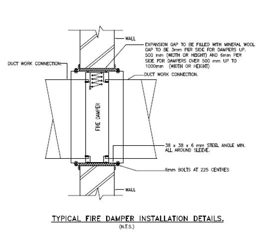 Damper Detail Construction Details Draw Extra Image