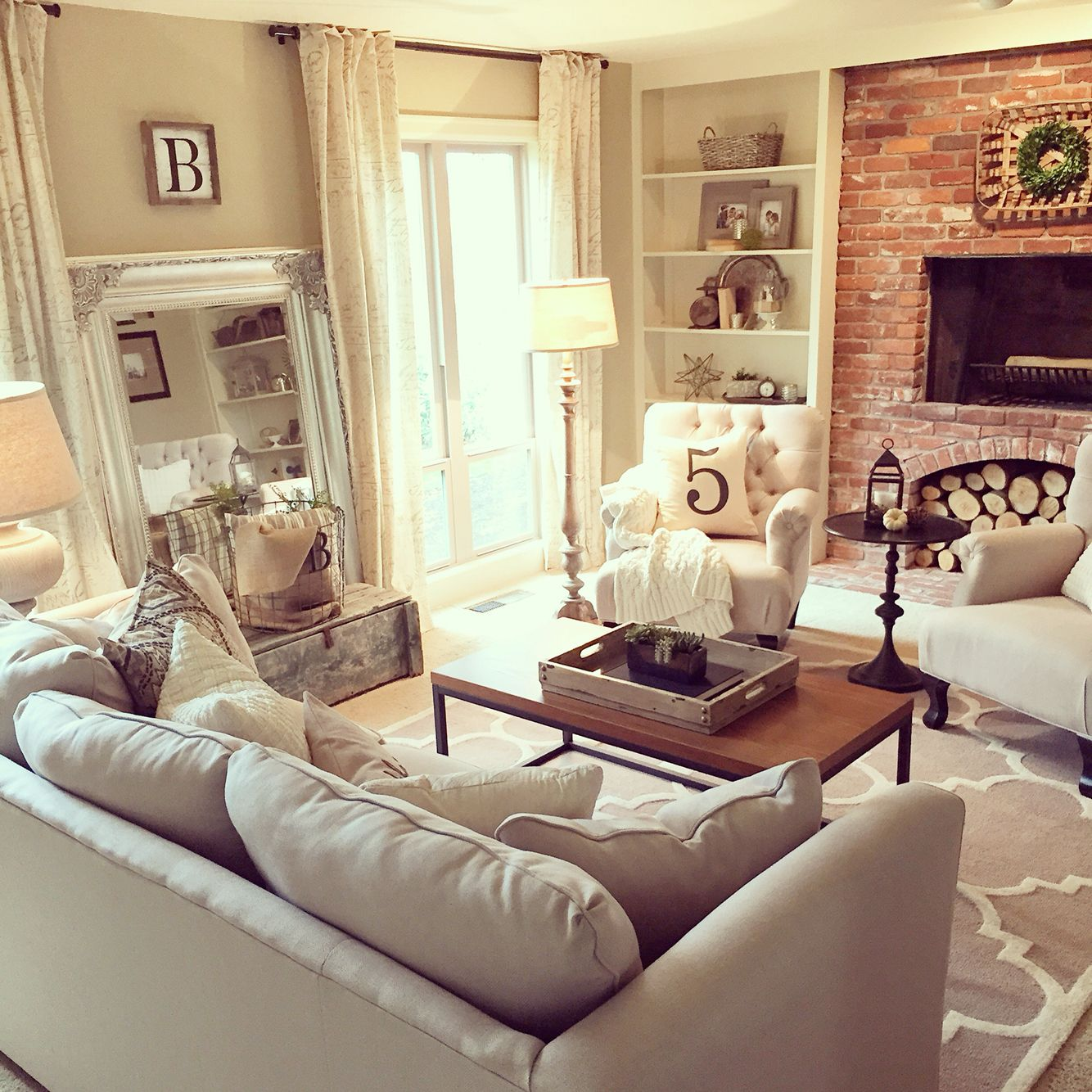 Living room refresh completed for a client love this neutral color