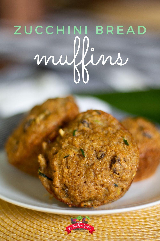 quick and easy zucchini bread muffins  recipe in 2020