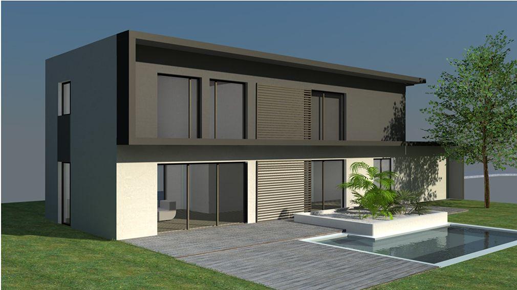 Plan Maison Architecte - Maison contemporaine économique à étage