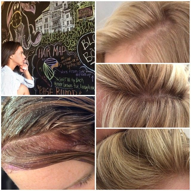 La Hair Colorist On Instagram A Base Bump Is A Permanent Hair Color That Is Put On For A Short Period Of Tim How To Lighten Hair Hair Color Bump Hairstyles