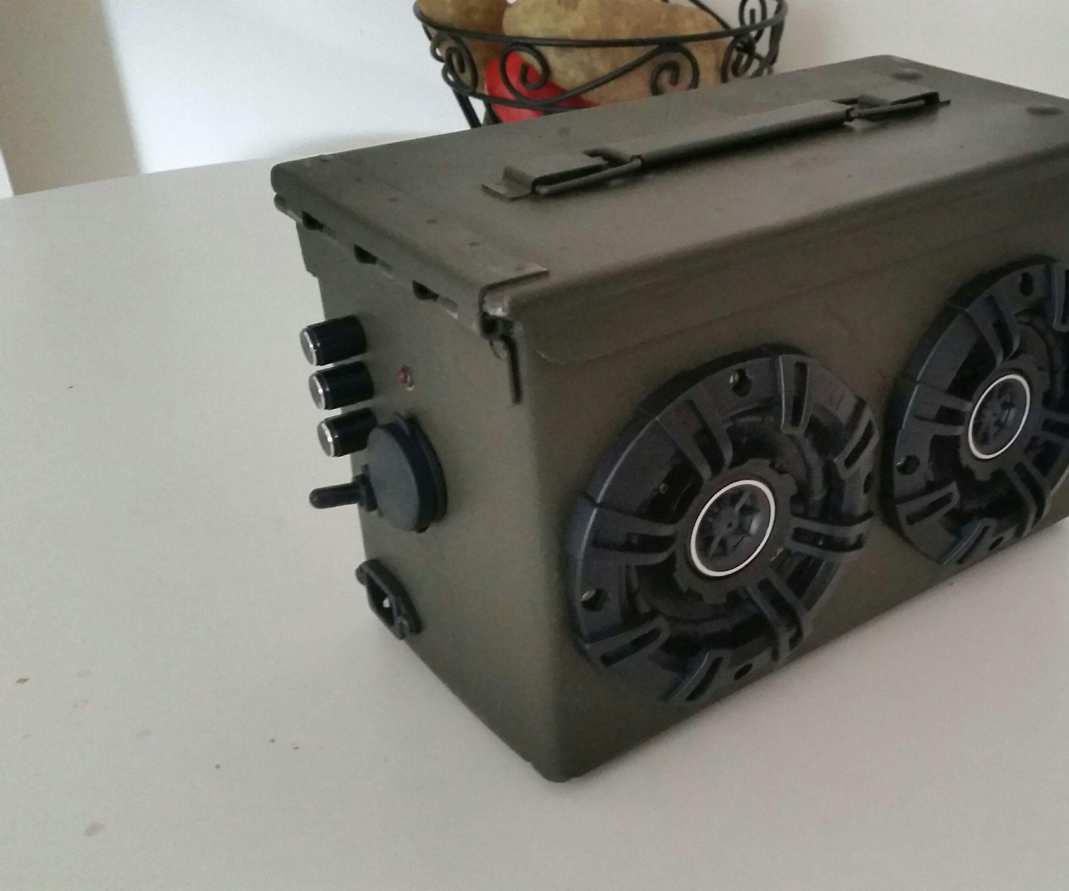 Circuito Bluetooth Casero : Ammo can bluetooth boom box altavoces bricolaje y hogar