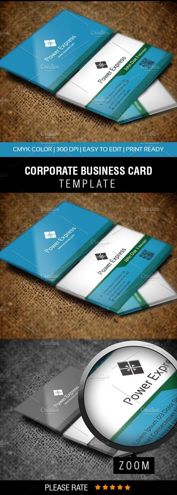 Power Express Business Card Business Card Template Design Business Cards Creative Templates Printable Business Cards
