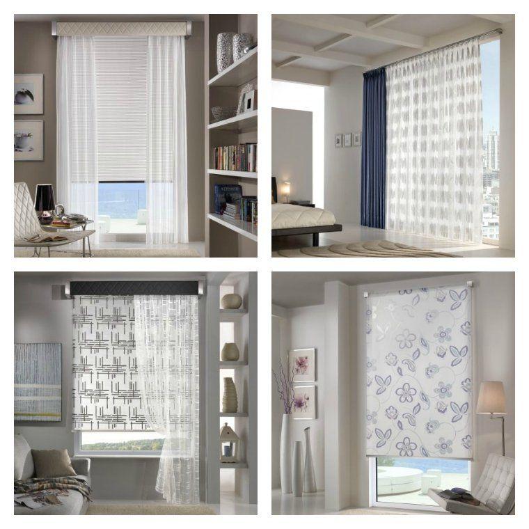 Estores y cortinas combinadas cortinas pinterest - Combinar cortinas y estores ...
