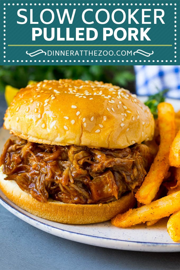 Slow Cooker Pulled Pork #crockpotrecipes