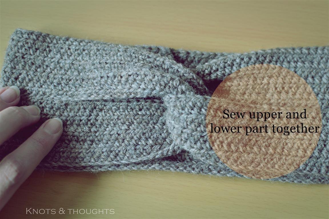 Knots And Thoughts Crochet Turban Headband Free Pattern