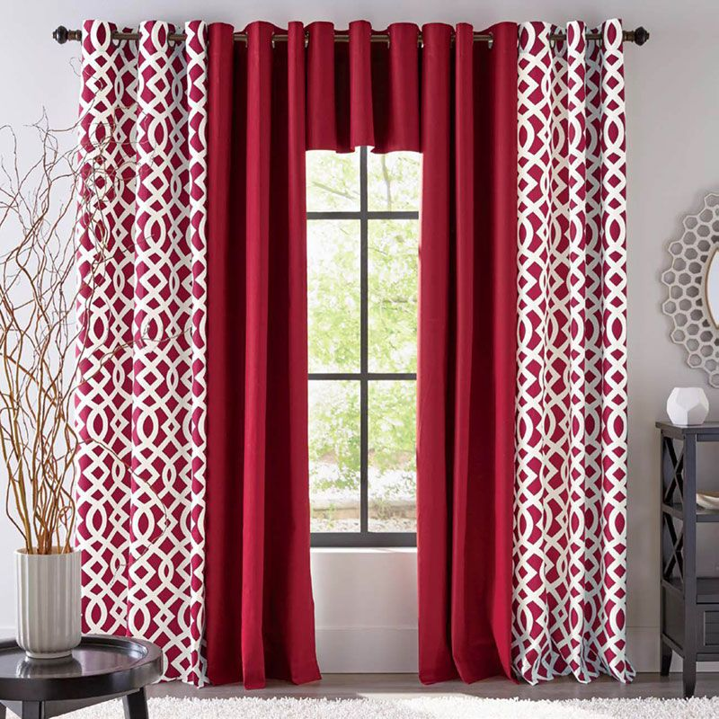 8 Easy Ways To Add Geometric Home Decor Curtain Designs Window Curtain Designs Geometric Curtains