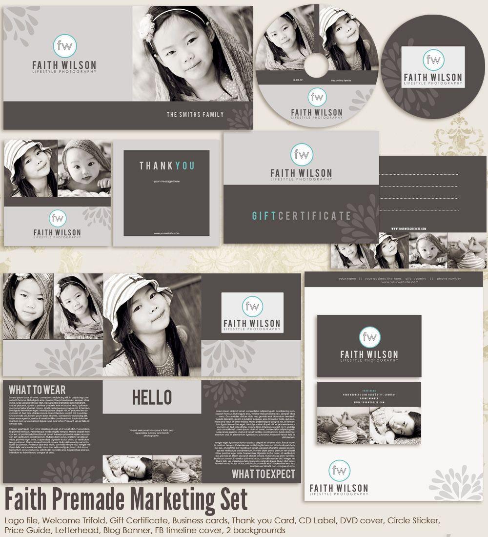 Faith Premade Photography Marketing Set Templates   Photography ...