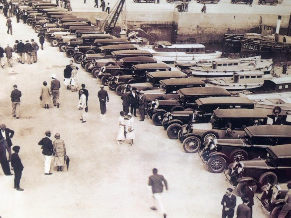 En el muelle del Náutico, 1918
