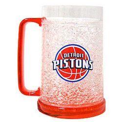 Detroit Pistons NBA Crystal Freezer Mug