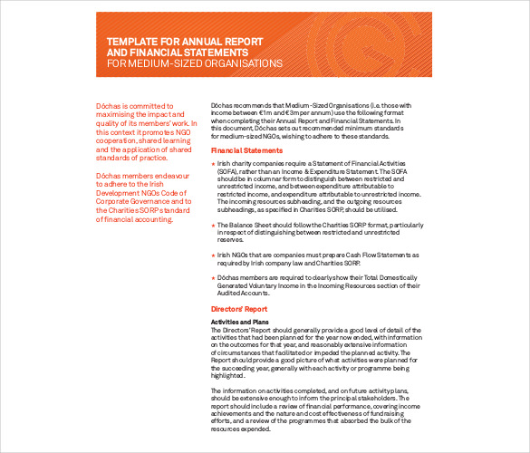 Annual Report Template Word 5 Professional Templates