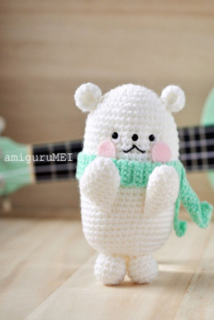 Free Crochet Pattern – BubbleGum Amigurumi Polar Bear | Knitting ...