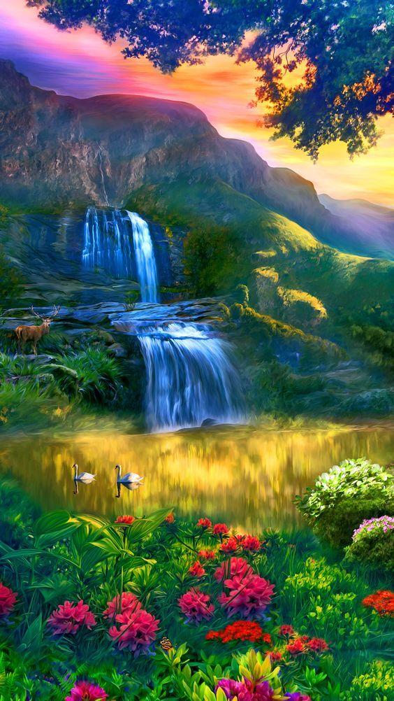 Beautiful Nature Artwork On Canvas Beautiful Nature Beautiful Nature Wallpaper Nature Artwork