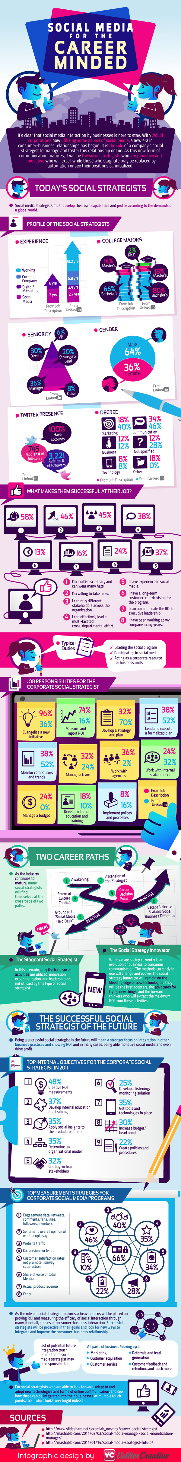 Infograph on Social Media Strategists