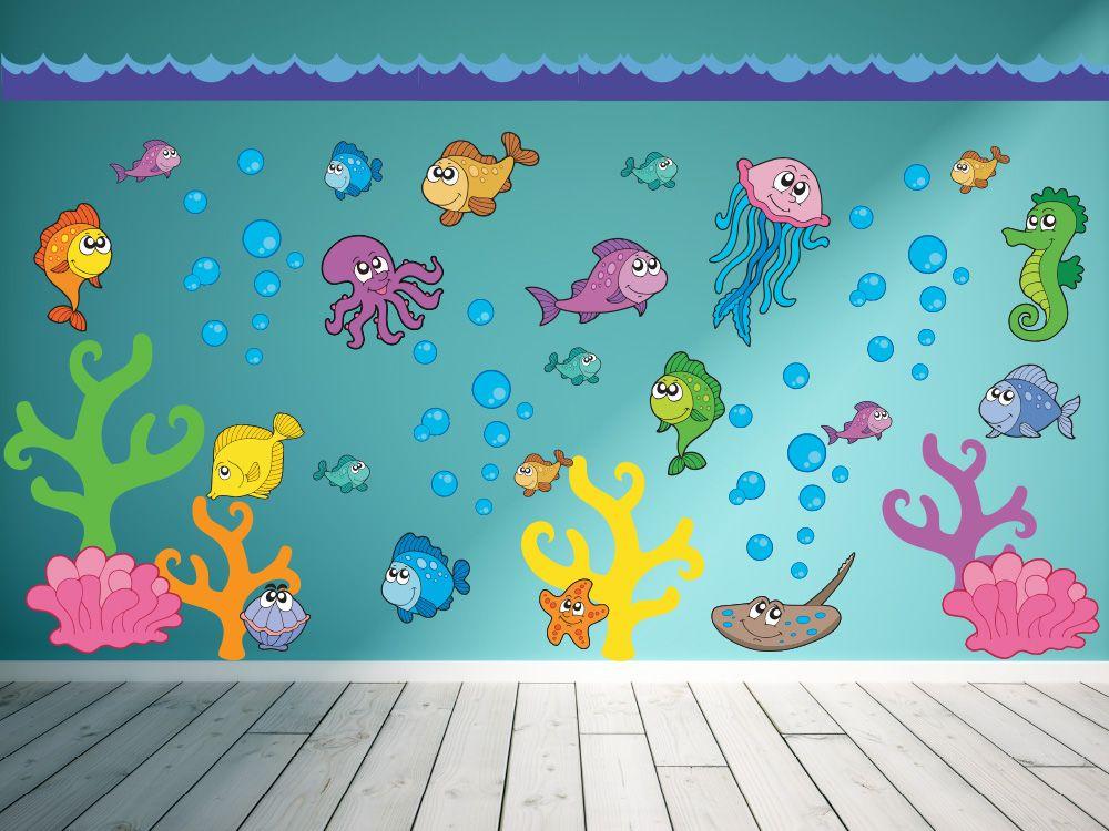 """Under the Sea"" Peel & Stick Boys Nursery Wall Decals ..."
