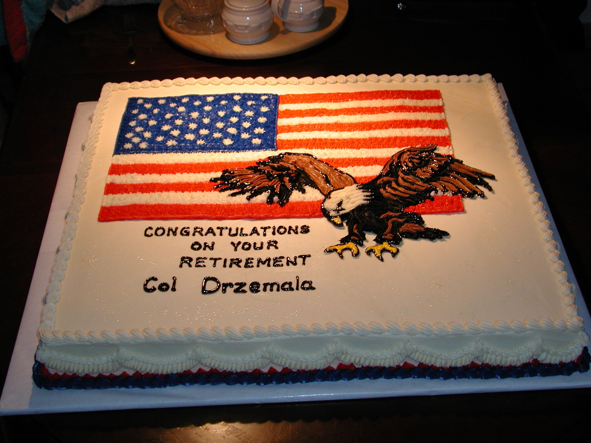Army Retirement Cake Images : Air Force Retirement Cake My Creations! Pinterest ...