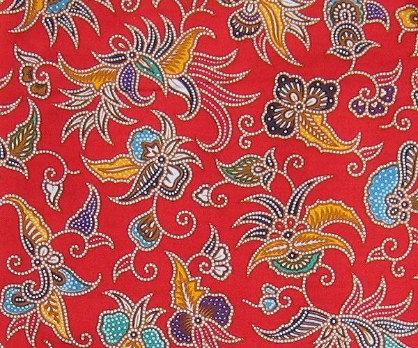 Indonesian Batik With Vivid Colors.